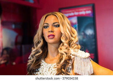 SAN FRANCISCO, USA - OCT 5, 2015: Beyonce Knowles in the Madame Tussauds museum in SF. It was open on June 26, 2014