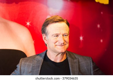 SAN FRANCISCO, USA - OCT 5, 2015: Robin Williams in the Madame Tussauds museum in SF. It was open on June 26, 2014