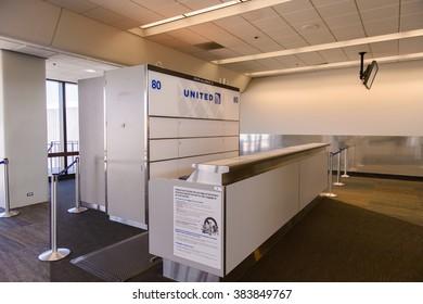 SAN FRANCISCO, USA - OCT 6, 2015: San Francisco International Airport (SFO). SFO is the main airport in San Francisco, California