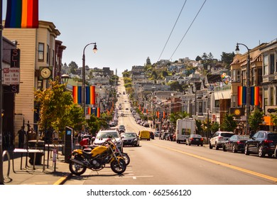 San Francisco, USA. September 2016 - View of  the main street in Castro district of San Francisco