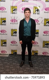 SAN FRANCISCO-APRIL 2.  Logan Lerman arrives at the Wonder-Con convention in San Francisco, California on April 2, 2011.