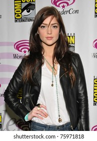 """SAN FRANCISCO-APRIL 3.  Janet Montgomery poses after a press event for """"The Human Target"""" during the Wonder-Con convention in San Francisco, California on April 3, 2011."""