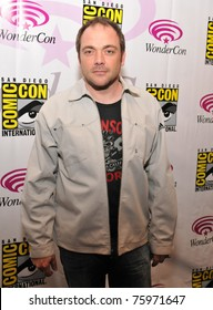 SAN FRANCISCO-APRIL 3.  Mark Sheppard poses for members of the press during the Wonder-Con convention in San Francisco, California on April 3, 2011.