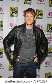 SAN FRANCISCO-APRIL 3.  Mark Valley poses for the gathered press during the Wonder-Con convention in San Francisco, California on April 3, 2011.