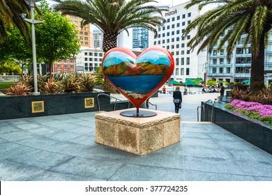 San Francisco,California,USA - MAY, 2009 : The Heart in Union Square, San Francisco,California,USA on May 31,2009