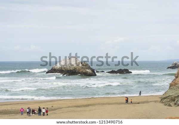 San Franciscocausa April 28 2018 Unidentified Stock Photo
