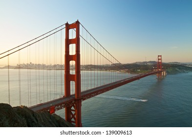 San Francisco's Famous Golden Gate Bridge at Dawn