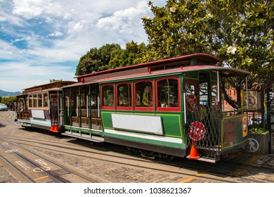 San Francisco's iconic cable car system, California