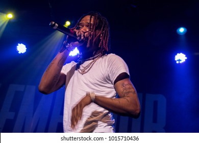 SAN FRANCISO, CA - FEBRUARY 1, 2018: Fetty Wap in concert at The Fillmore in San Francisco, CA