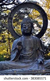 San Fransisco, California, USA - November 12, 2015: Japanese tea gardens