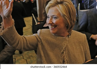 SAN GABRIEL, LA, CA - JANUARY 7, 2016, Democratic Presidential candidate Hillary Clinton shakes hands with Asian American and Pacific Islander (AAPI) members.