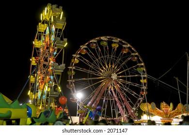 San Genaro Festival shot at night