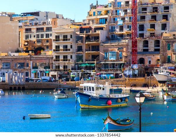 San Giljan Malta On January 7 Stock Image Download Now