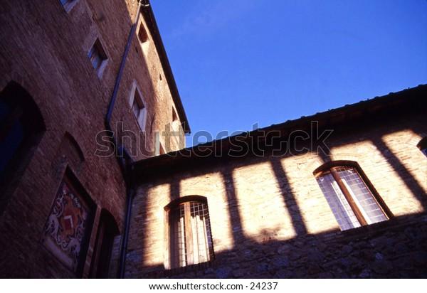 A San Gimignano courtyard