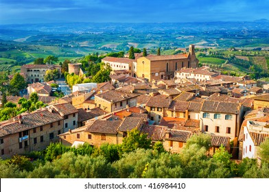 San Gimignano medieval town, Tuscany Italy.