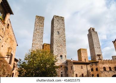 San Gimignano towers, Tuscany, Italy