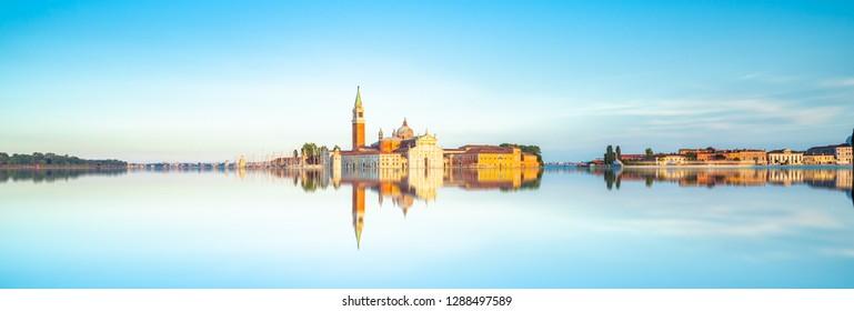 San Giorgio di Maggiore church  with reflection in Venice, Italy