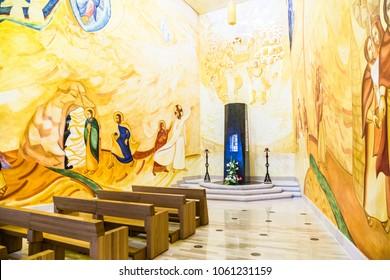 San Giovanni Rotondo, Apulia, Italy 01 June 2017. Interior of the Sanctuary of San Giovanni Rotondo,in Apulia, Italy.
