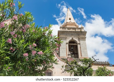 San Giuseppe Church along Corso Umberto in Taormina at Sicilian Island