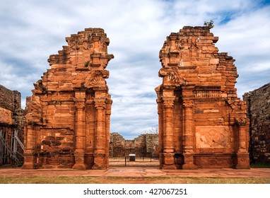 San Ignacio-Mini mission founded in 1632 by the Jesuits, Misiones Province, Argentina