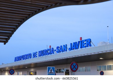 San Javier, Spain - May 27, 2017: Murcia - San Javier Airport. Region of Murcia, Spain