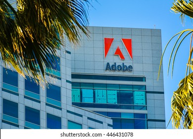 San Jose, CA - Jul. 2, 2016: Adobe Systems, Inc. Best known for its Photoshop, Adobe Systems is a software company that specializes on the creation of multimedia and creativity software products.