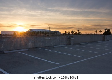San Jose, CA – Mar 18, 2019: Sun setting over SAP Center, an indoor multi-purpose arena located in downtown San Jose, CA. Primary tenant is the San Jose Sharks ice hockey team of the NHL.