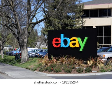 SAN JOSE, CA - MARCH 18: The eBay world headquarters building located in San Jose on March 18, 2014. eBay is an American multinational Internet corporation best known for online auctions.