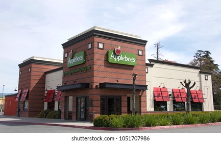 San Jose, CA - March 19, 2018: Applebee's Neighborhood Grill and Bar, a casual dining restaurant operating system wide in the United States, Puerto Rico and 15 other countries.