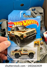 San Jose, CA - May 19, 2019: New in box Hotwheels toy car, Baja Blasters series.