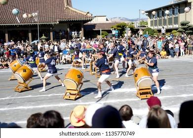 San Jose, CA / USA - July 14 2018: Obon dance festival in Japan town