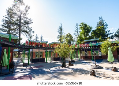 San Jose CA USA July 22, 2017: Entrance to Happy Hollow Park and Zoo