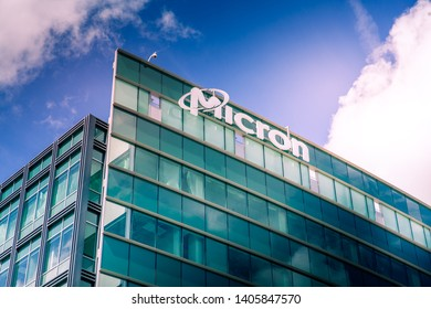 San Jose, CA, USA - March 26, 2019: Micron Technology Inc. One of american leader in  semiconductor devices, dynamic random-access memory, flash memory, USB flash drives, solid-state drives.