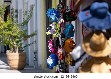 San Jose, Cabo san Lucas / Mexico 11-14-2018 Traditional objects are sold in one of San Jose Del Cabo's many retail stores on the Baja Peninsula in Baja Mexico