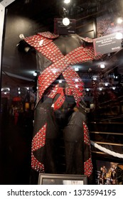 San Jose, California - March 28, 2015.: Shawn Michaels ring gear from Wrestlemania 12 on Display at WWE Axxess event at the McEnery Convention Center.