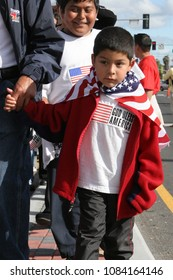 San Jose, CA/USA - Apr 10, 2006: Thousands of people marched in a pro-immigration rally to protest the proposed new legislation HR 4437 in San Jose, California.