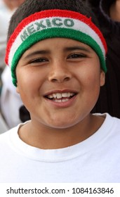 San Jose, CA/USA - April 10, 2006: A Mexican American boy marches in support of equal rights for immigrants during a rally in San Jose, California.