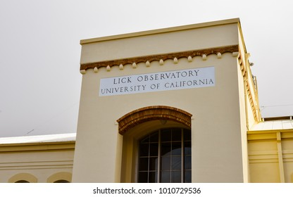 San Jose, CA/USA - Feb. 19, 2016: Lick Observatory main building.  Lick Observatory is an astronomical observatory which is owned and operated by the University of California.
