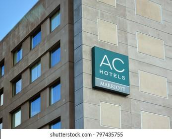 San Jose, CA/USA - Jan. 19, 2018: AC Hotels Marriott in San Jose, California.