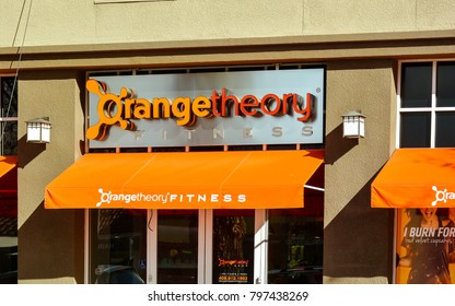 San Jose, CA/USA - Jan. 19, 2018: Orangetheory Fitness studio in San Jose CA. It is a privately owned fitness franchise based in Boca Raton, Florida.