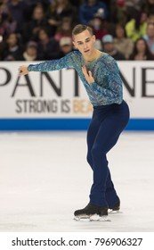 San Jose, CA/U.S.A. - January 6, 2018 Adam Rippon performs during the men's freeskate at the U.S. National Figure Skating Championships