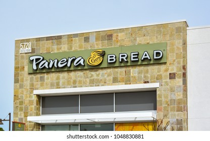 San Jose, CA/USA - Mar. 18, 2018: Panera Bread branch in San Jose, CA. Panera Bread is a US chain featuring bakery products, sandwiches, and salads.