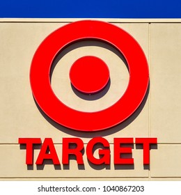 San Jose, CA/USA - Mar. 7, 2018: Target Corporation logo and name at its branch store in San Jose, CA. Target Corp. is a discount store retailer in the United States.
