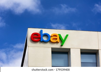 SAN JOSE, CA/USA - MARCH 1, 2014:  Ebay Corporate Headquarters Sign. eBay Inc. is an American multinational internet consumer-to-consumer corporation, headquartered in San Jose, California.