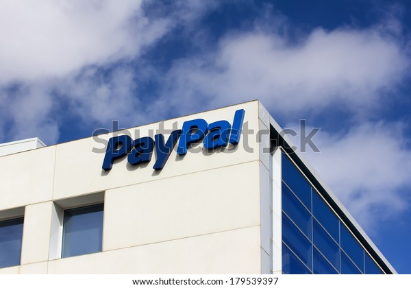SAN JOSE, CA/USA - MARCH 1, 2014:  PayPal Corporate Headquarters Sign. PayPal is an international e-commerce business allowing payments and money transfers to be made through the Internet.