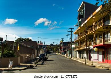 San Jose, Costa Rica. February 18, 2018. An empty street in the early morning in San Jose, Costa Rica