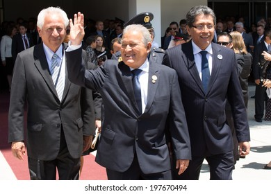 San Jose, Costa Rica. May, 8th, 2014. Salvador Sanchez Ceren, President of El Salvador, attends to presidency assumption of Luis Guillermo Solis in Costa Rica.