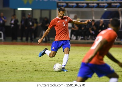 SAN JOSE, COSTA RICA - SEPTEMBER 06 2019: Celso Borges during friendly match between Costa Rica and Uruguay national teams. Uruguay defeated Costa Rica 1-2.