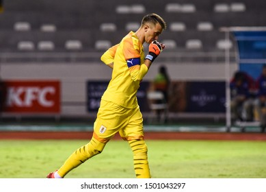 SAN JOSE, COSTA RICA - SEPTEMBER 06 2019: Fernando Muslera during friendly match between Costa Rica and Uruguay national teams. Uruguay defeated Costa Rica 1-2.