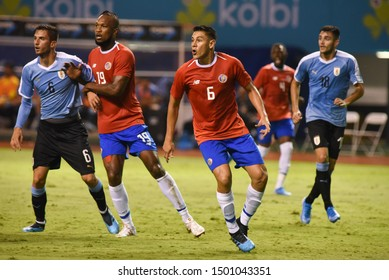 SAN JOSE, COSTA RICA - SEPTEMBER 06 2019: Oscar Duarte during friendly match between Costa Rica and Uruguay national teams. Uruguay defeated Costa Rica 1-2.